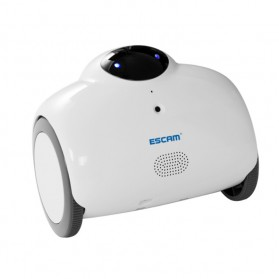 ESCAM Robot QN02 Wireless IP Camera Monitoring Touch Interaction 720P - White - 2