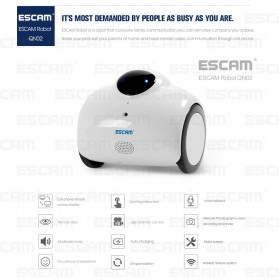 ESCAM Robot QN02 Wireless IP Camera Monitoring Touch Interaction 720P - White - 5