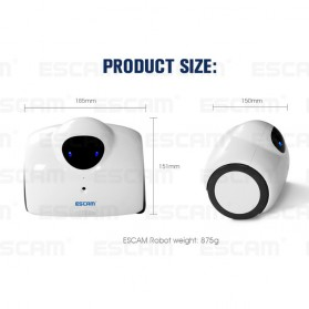ESCAM Robot QN02 Wireless IP Camera Monitoring Touch Interaction 720P - White - 6