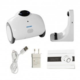 ESCAM Robot QN02 Wireless IP Camera Monitoring Touch Interaction 720P - White - 7
