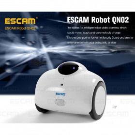 ESCAM Robot QN02 Wireless IP Camera Monitoring Touch Interaction 720P - White - 8