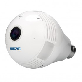 CCTV Dome - Escam Watt QP135 Bulb WiFi IP Camera 960P - White