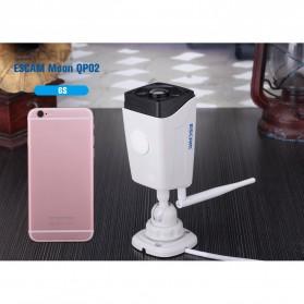 ESCAM Moon QP02 WiFi IP Camera CCTV 1/4 Inch 2MP 1080P - White - 6