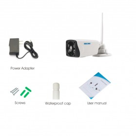 ESCAM Moon QP02 WiFi IP Camera CCTV 1/4 Inch 2MP 1080P - White - 9