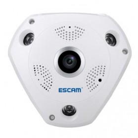 ESCAM Shark QP180 Panoramic IP Camera CCTV CMOS 960P - White