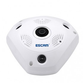 ESCAM Shark QP180 Panoramic IP Camera CCTV CMOS 960P - White - 2