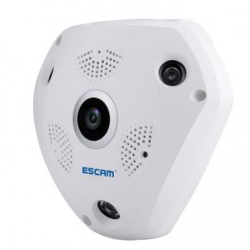 ESCAM Shark QP180 Panoramic IP Camera CCTV CMOS 960P - White - 3