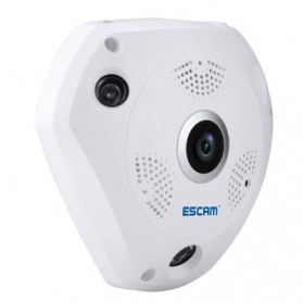 ESCAM Shark QP180 Panoramic IP Camera CCTV CMOS 960P - White - 6