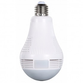 ESCAM QP136 Bulb Panoramic  WiFi IP Camera 960P - White