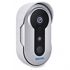 ESCAM Doorbell QF220 WiFi Mini IP Camera Surveillance CCTV 960P - Silver - 1