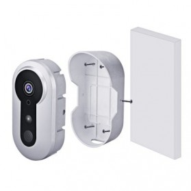 ESCAM Doorbell QF220 WiFi Mini IP Camera Surveillance CCTV 960P - Silver - 6