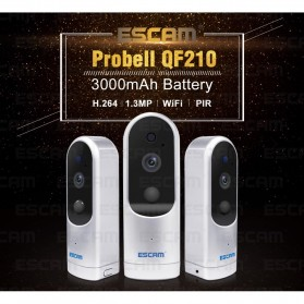 ESCAM Probell QF210 Mini WiFi IP Camera CCTV HD 960P - White - 7