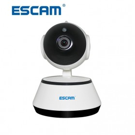 ESCAM Wireless IP Camera CCTV 1/4 Inch CMOS 720P Nightvision - G10 - White