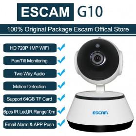 ESCAM Wireless IP Camera CCTV 1/4 Inch CMOS 720P Nightvision - G10 - White - 6