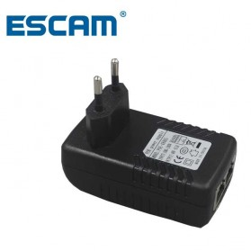 ESCAM POE Injector Adapter DC 24V for CCTV - LZD102 - Black