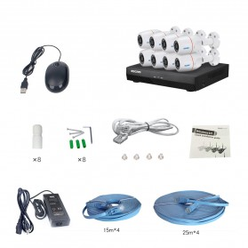 ESCAM POE NVR Security Kit HD 8Ch with 8 CCTV 1080P - PNK805 - Black - 8