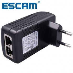 ESCAM POE Injector Adapter DC 48V for CCTV - Black
