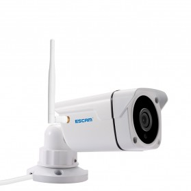 ESCAM PVR001 Bullet Wireless IP Camera CCTV 1/4 Inch CMOS 720P - White - 3