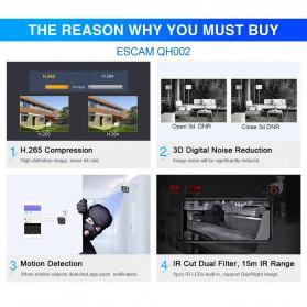ESCAM QH002 IR Bullet IP Camera  Night Vision 2MP 1080P - White - 8