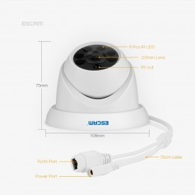 ESCAM QH001 IR Dome IP Camera Night Vision 2MP 1080P - White - 2