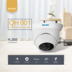 ESCAM QH001 IR Dome IP Camera Night Vision 2MP 1080P - White - 4