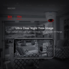 ESCAM QH001 IR Dome IP Camera Night Vision 2MP 1080P - White - 6