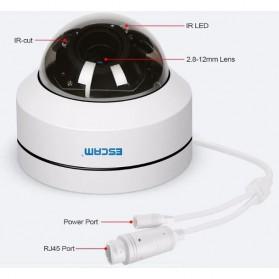 ESCAM PVR002 Dome IP Camera CCTV 1/2.7 Inch 2M CMOS 1080P - White - 6