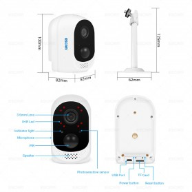 ESCAM QF230 Mini WiFi IP Camera CCTV HD 1080P - White - 4