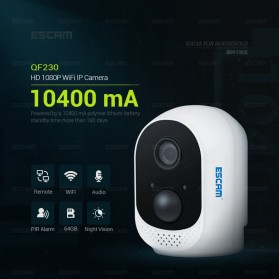 ESCAM QF230 Mini WiFi IP Camera CCTV HD 1080P - White - 9