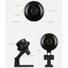 Escam Button Q6 2.0MP WiFi IP Camera ONVIF HD 1080P - Black - 8