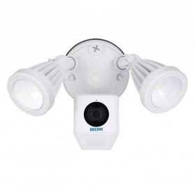 ESCAM QF608 WiFi IP Camera CCTV Floodlight PIR Detection HD 1080P - White