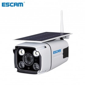 ESCAM YN88 Watchmen WiFi IP Camera CCTV 1/4 Inch 2MP 1080P Solar Panel Power - White