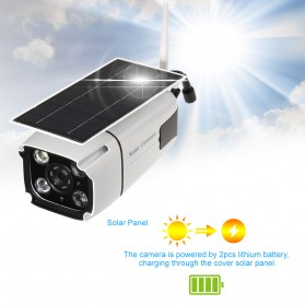 ESCAM YN88 Watchmen WiFi IP Camera CCTV 1/4 Inch 2MP 1080P Solar Panel Power - White - 8