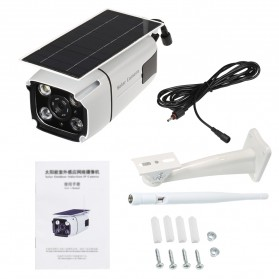 ESCAM YN88 Watchmen WiFi IP Camera CCTV 1/4 Inch 2MP 1080P Solar Panel Power - White - 10
