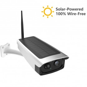 ESCAM QF270 WiFi IP Camera 1/4 Inch PIR 1080P Solar Panel Power - White - 1