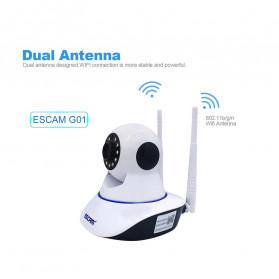 ESCAM G01 Bullet IP Camera CCTV 1/4 Inch CMOS 1080P - White - 10