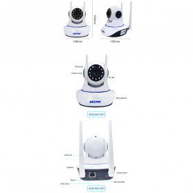 ESCAM G01 Bullet IP Camera CCTV 1/4 Inch CMOS 1080P - White - 11