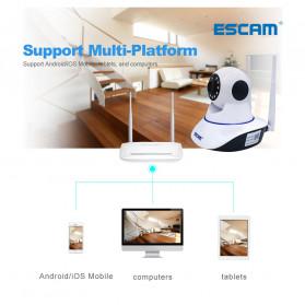 ESCAM G01 Bullet IP Camera CCTV 1/4 Inch CMOS 1080P - White - 9