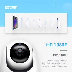 ESCAM PVR008 Auto Tracking IP Camera CCTV 1/2.9 Inch CMOS 1080P - White - 8