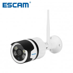 CCTV / Security Camera - ESCAM QD109 WiFi Waterproof Bullet Wireless IP Camera CCTV 1/3 Inch 1MP CMOS 720P - White