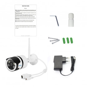 ESCAM QD109 WiFi Waterproof Bullet Wireless IP Camera CCTV 1/3 Inch 1MP CMOS 720P - White - 6