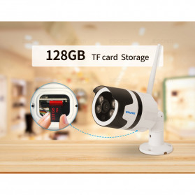 ESCAM QD109 WiFi Waterproof Bullet Wireless IP Camera CCTV 1/3 Inch 1MP CMOS 720P - White - 8