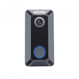 ESCAM V6 Kamera Bell Pintu Doorbell WiFi IP Camera CCTV Cloud Storage 720P - Black - 3