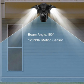 ESCAM QF612 Floodlight WiFi IP Camera CCTV PIR Detection HD 1080P - Black - 7