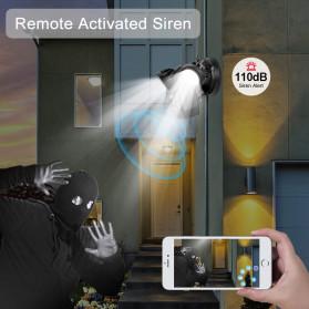 ESCAM QF612 Floodlight WiFi IP Camera CCTV PIR Detection HD 1080P - Black - 8