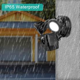 ESCAM QF612 Floodlight WiFi IP Camera CCTV PIR Detection HD 1080P - Black - 10