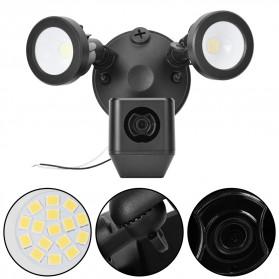 ESCAM QF612 Floodlight WiFi IP Camera CCTV PIR Detection HD 1080P - Black - 13