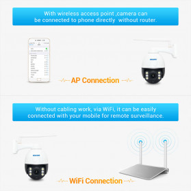 ESCAM Q2068 Speed Dome WiFi IP Camera CCTV 2MP 1080P Night Vision - White - 3