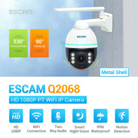ESCAM Q2068 Speed Dome WiFi IP Camera CCTV 2MP 1080P Night Vision - White - 5
