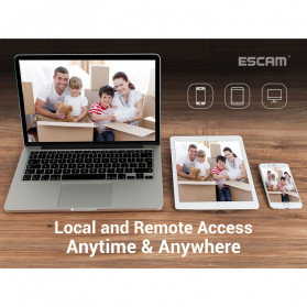ESCAM NVR Kit HD 4Ch with 4 CCTV 3MP - PVR601 - Black - 9